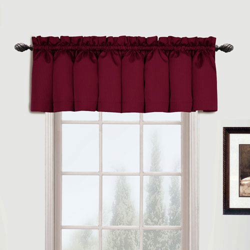 United Curtain Co. Metro Burgundy 16 x 54 In. Topper