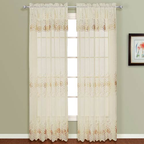 Marianna Natural 84 x 54 In. Curtain Panel