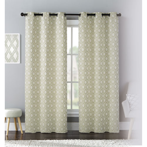 United Curtain Co. Mystique Green 84 x 76 In. Curtain Panel Set, Set of Two
