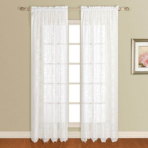 United Curtain Co. New Rochelle White 84 x 56 In. Curtain Panel
