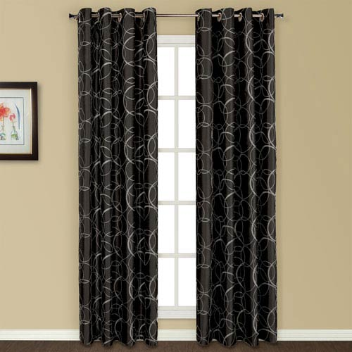 Sinclair Black 84 x 54 In. Curtain Panel