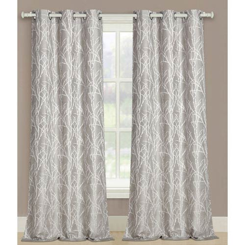 United Curtain Co. Taylor Natural 95 x 76 In. Curtain Panel Set, Set of Two