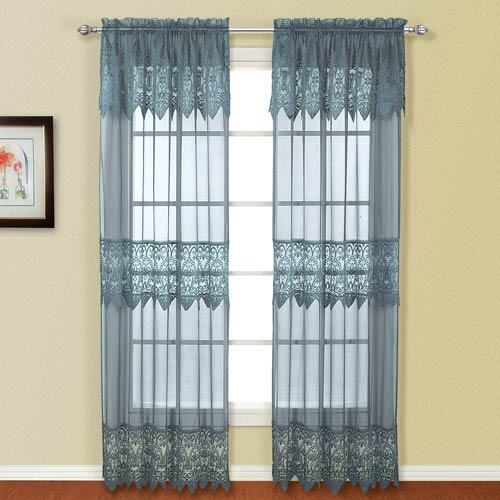 Valerie Blue 84 x 52 In. Curtain Panel Set, Set of Two