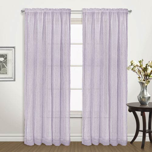 Venice Amethyst 63 x 50 In. Curtain Panel Set, Set of Two