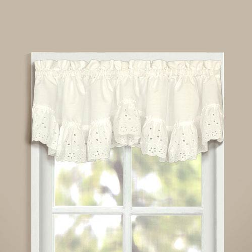 United Curtain Co. Vienna Natural 16 x 60 In. Topper