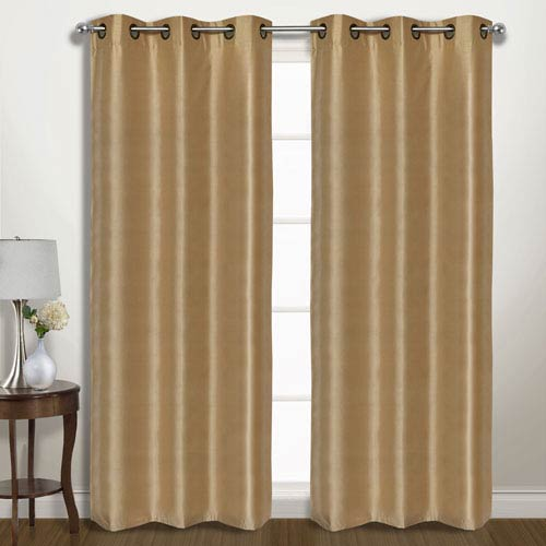 Vintage Gold 63 x 74 In. Curtain Panel Set, Set of Two