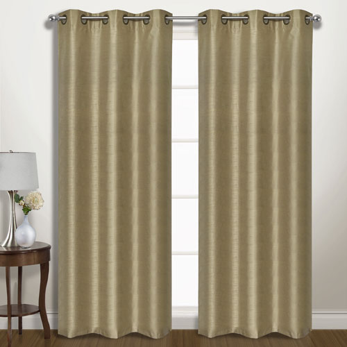 United Curtain Co. Vintage Taupe 63 x 74 In. Curtain Panel Set, Set of Two