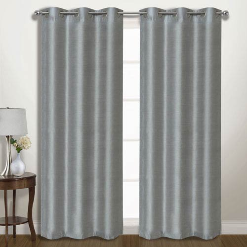 Vintage Silver 95 x 74 In. Curtain Panel Set, Set of Two