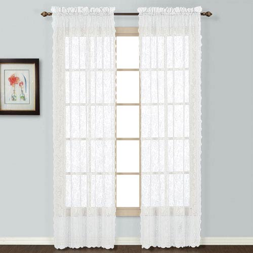 United Curtain Co. Windsor White 72 x 56 In. Curtain Panel