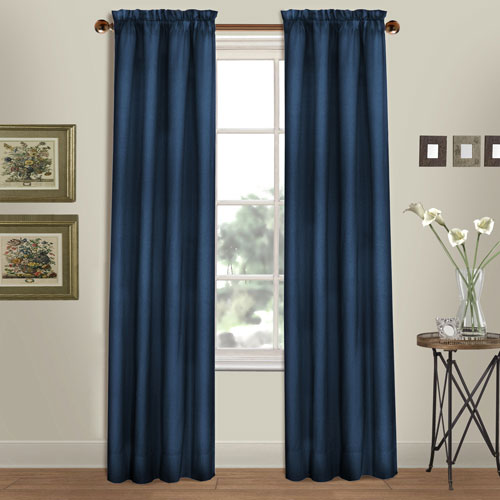 Westwood Navy 63 x 56 In. Curtain Panel Split Pair, Set of Two