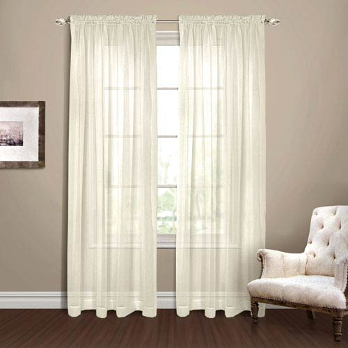 Yvonne Ivory 63 x 54 In. Curtain Panel