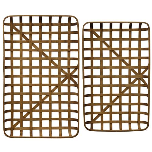 StyleCraft Tray Paracel Bamboo Tray, Set of 2