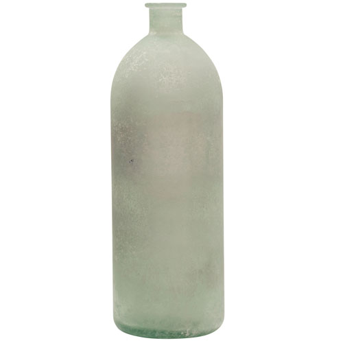 StyleCraft Frosted White Recycled Glass Vase