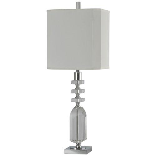 StyleCraft Jane Seymour Crystal/Chrome One-Light Table Lamp