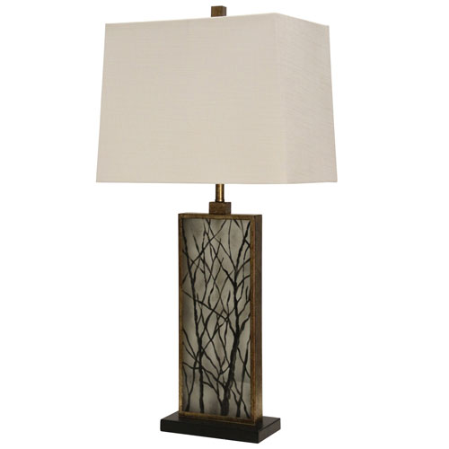 William Magnum Brown One-Light 35-Inch Table Lamp