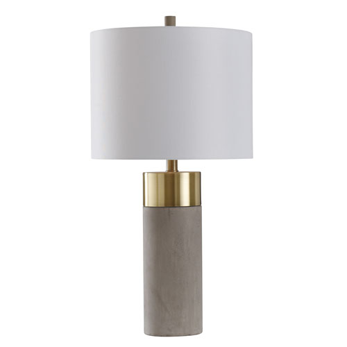 Soft Brass and Natural Concrete 27-Inch One-Light Table Lamp