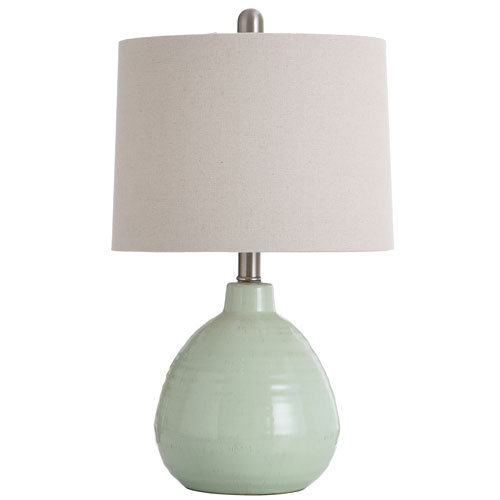 Ceramic Key Lime Green 21-Inch One-Light Table Lamp