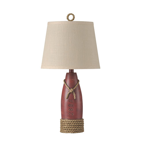 Nantucket Red 26-Inch One-Light Table Lamp