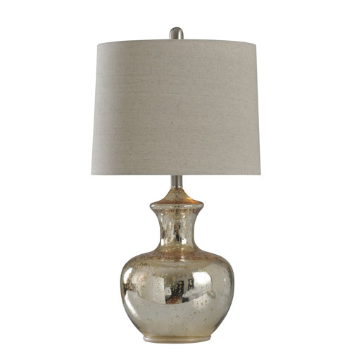 Silver Mercury 25-Inch One-Light Table Lamp