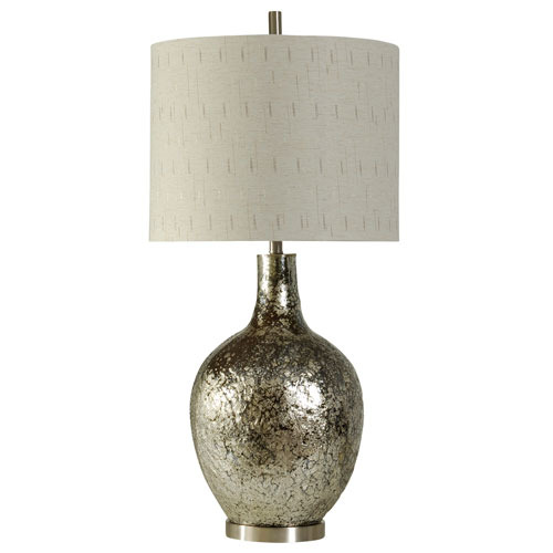StyleCraft Silver One-Light Navarro Table Lamp