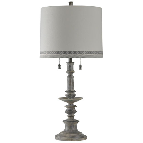 Washed Grey One-Light Table Lamp