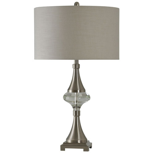 Brushed Steel One-Light 32-Inch Table Lamp