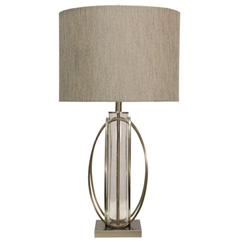 Brushed Steel One-Light 34-Inch Table Lamp