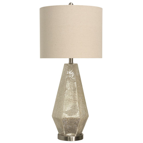 Thomas Crackled Mercury Glass 30-Inch One-Light Table Lamp