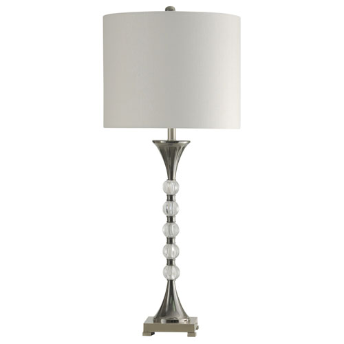 StyleCraft Black Nickel One-Light 39-Inch Table Lamp