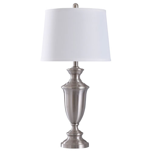 Josh Brush Nickel 30-Inch One-Light Table Lamp