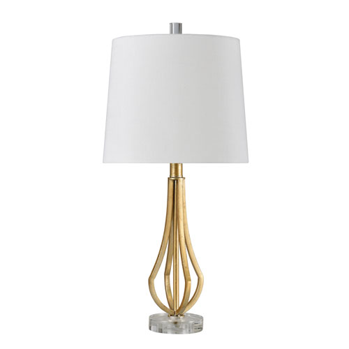 StyleCraft Linda Antique Gold 24 Inch One Light Table Lamp