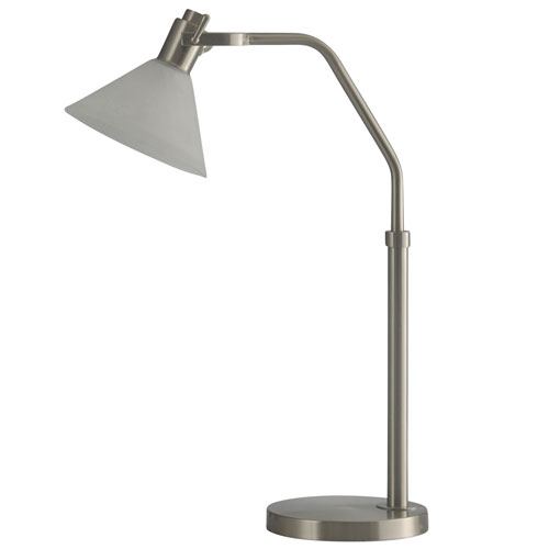 StyleCraft Brushed Steel LED Table Lamp