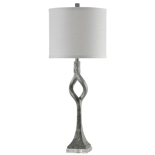 Silver One-Light 37-Inch Table Lamp