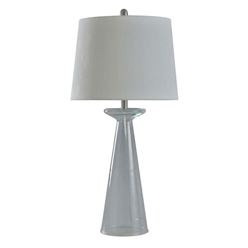 Empire Seeded Clear 33-Inch One-Light Table Lamp
