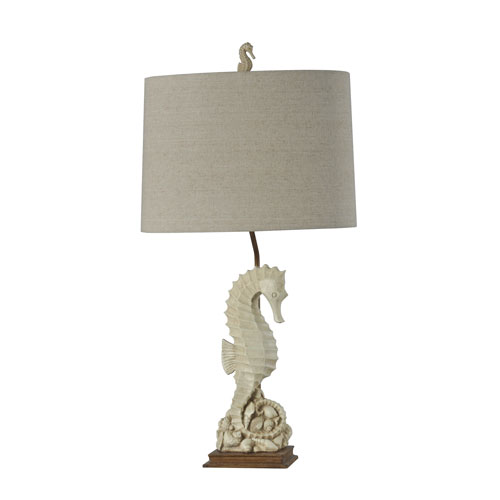 Seahorse Beige with Ivory 31-Inch One-Light Table Lamp