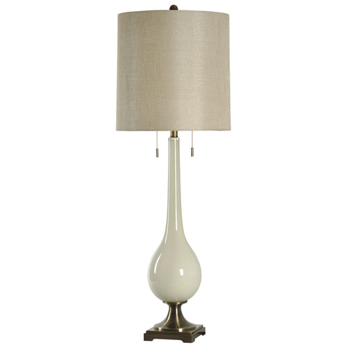 StyleCraft White One-Light 44-Inch Table Lamp