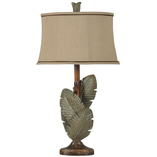 StyleCraft Wentworth Bronze and Grey One-Light Table Lamp