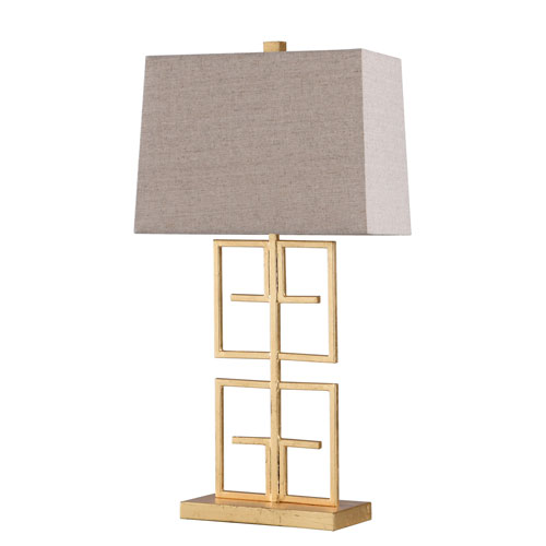 Lexi Gold Leaf 28-Inch One-Light Table Lamp