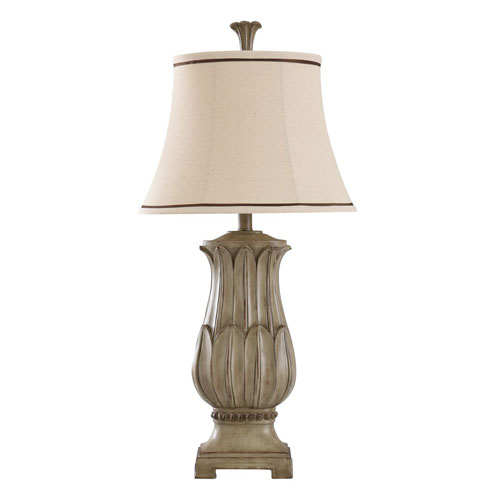 Laurel Bay Distressed Beige 32-Inch One-Light Table Lamp