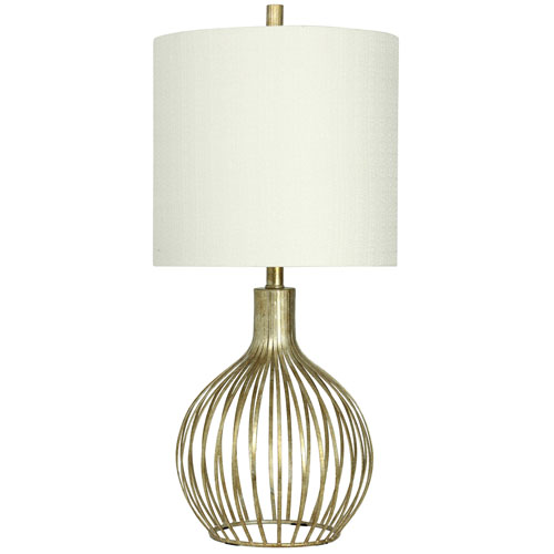 StyleCraft Vintage Gold One-Light 31-Inch Table Lamp