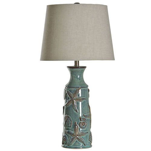 StyleCraft Blue Bay One-Light Table Lamp