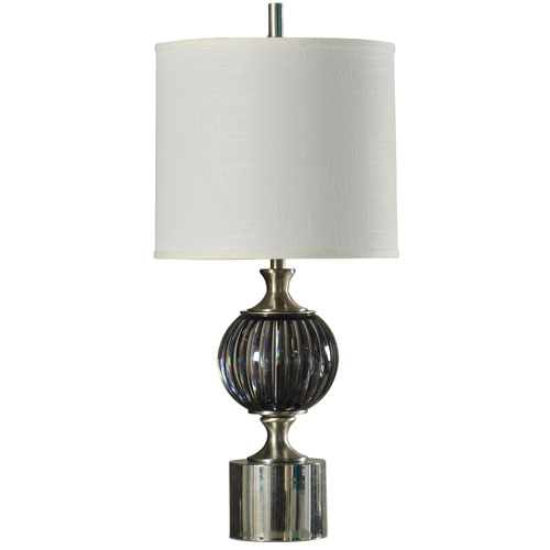 StyleCraft Black and Brushed Steel One-Light 36-Inch Table Lamp