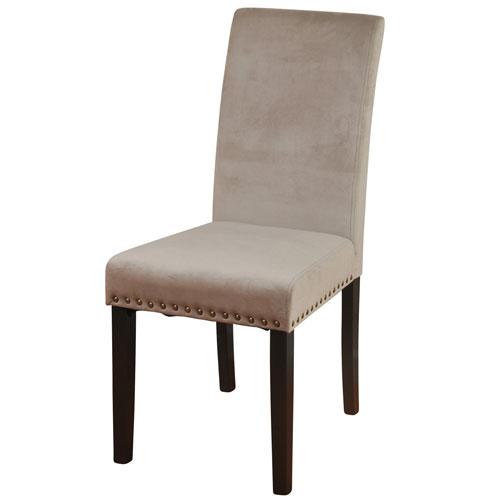 Dust Rose Velvet Silk Road Parson Dining Chair