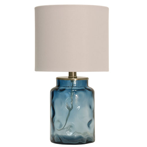 StyleCraft Blue One-Light 26-Inch Table Lamp