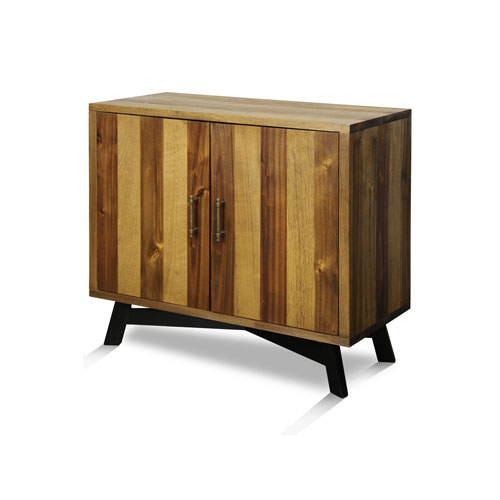 StyleCraft Natural Wood Two Door Cabinet