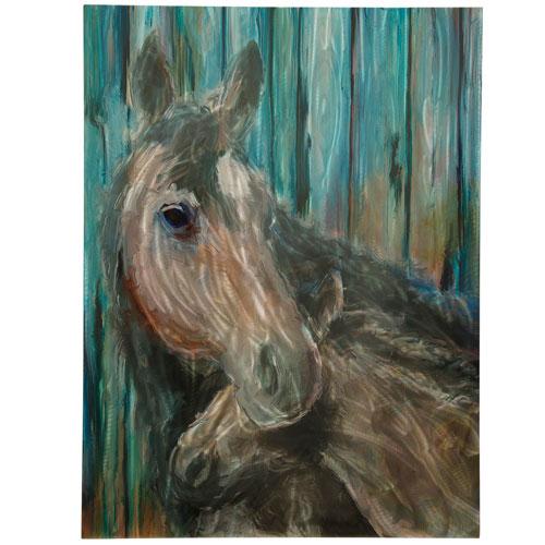 StyleCraft Multicolor Momma and Foal Wall Art