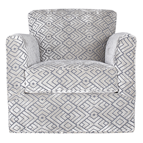 Harlow Hipster Silver Swivel Chair