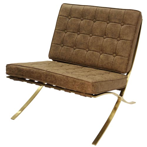 Superieur Harp U0026 Finial Calvin Distressed Chocolate Leather Armless Chair
