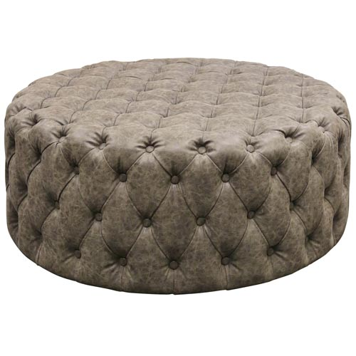 Franklin Distressed Fray Ottoman