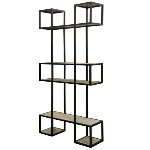 Baltic Gray Wash Bookshelf